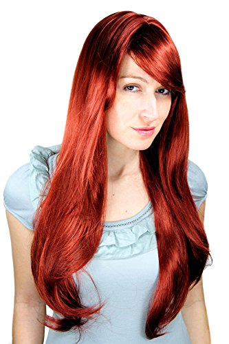 WIG ME UP  - 3111-35 Perücke, rot, lang, Scheitel, sexy Wig ca. 70cm
