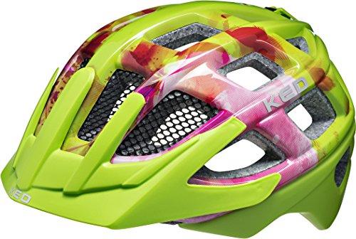 KED Kailu Helmet Kids Flower Green Kopfumfang M | 53-59cm 2018 Fahrradhelm