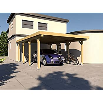 Carport Flachdach SILVERSTONE XIV 400x600 cm Bausatz ...