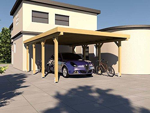 Carport Flachdach SILVERSTONE XIV 400x600 cm Bausatz Flachdachcarport