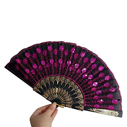 ZGDPLZS Abanico Plegable Pañuelo de plástico de Abanico para Decorar abanicos Decorativos...