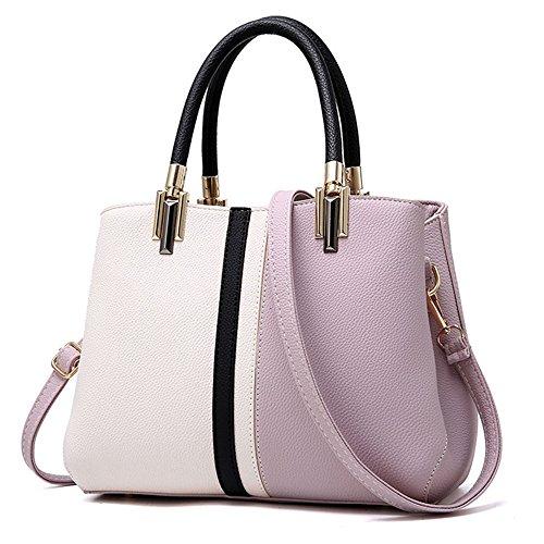 Tibes Girls Damen Abendtasche Tote Bag Lila (Medium Handtasche Tote Bag)