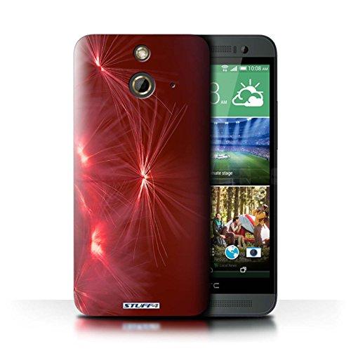 Kobalt® Imprimé Etui / Coque pour HTC One/1 E8 / Jaune conception / Série Allumez la vie Rouge