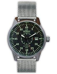 LIV MORRIS LIV MORRIS Lübeck Mesh 0732066354499 - Reloj para hombres, correa de acero inoxidable color acero