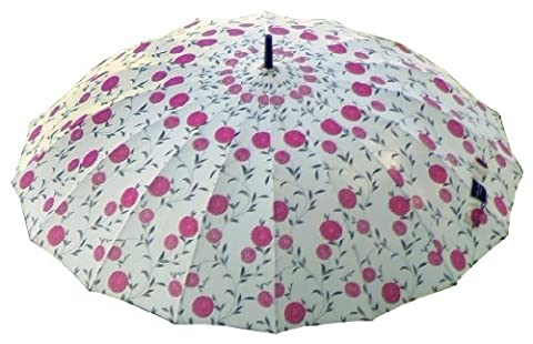 Laura Ashley 3A074718 City Umbrella, Erin Cherry Charcoal