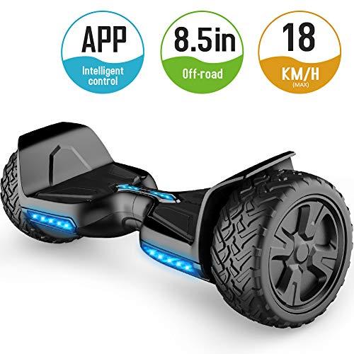 TOMOLOO Hoverboard mit Bluetooth-Lautsprecher Smart Scooter Zwei-Rad Elektro Self-Balance Scooter E- Skateboard LED Hover Board mit UL2272 Zertifiziert für Erwachsene und Kinder.