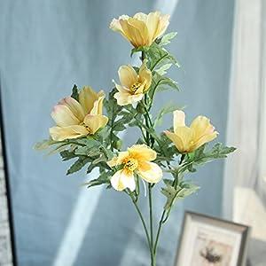 ForgetMe – Ramo de Flores de crisantemo Artificiales, de Seda Artificial, para decoración del hogar, Boda, Boda, hogar…