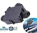 Sucre AUX® 24A 450V 3Wege T Form IP68Wasserdicht Elektrisches Kabel Wire Connector Abzweigdose UK (4–14mm)