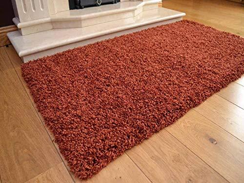 Alfombra Soft Touch - Lujosa alfombra tupida con tela trenzada, de pelo alargado y suave, con un grosor...