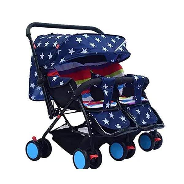 I will take action now Twin baby strollers can sit and gently fold twins and phoenix carts four seasons universal second child artifact bb car (color : C) I will take action now The seat is comfortable, you can face the outside world, breathable comfort and easy travel. Innovative canopy design, high-quality fabric, warm sunscreen, breathable, anti-40 + UV, crown from plastic to aluminum, more stable and prevent deflection. Freely disassembled, independent space, twins or big treasures, bearing together. 2
