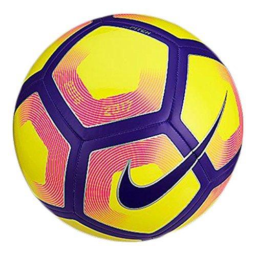 Nike Pitch Balón, Unisex adulto, Amarillo (Yellow / Purple / Black), 5