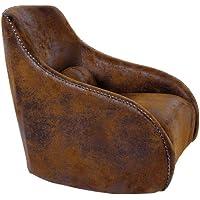 Preisvergleich für Kare 77145 Sessel Swing Ritmo Vintage Eco, Braun