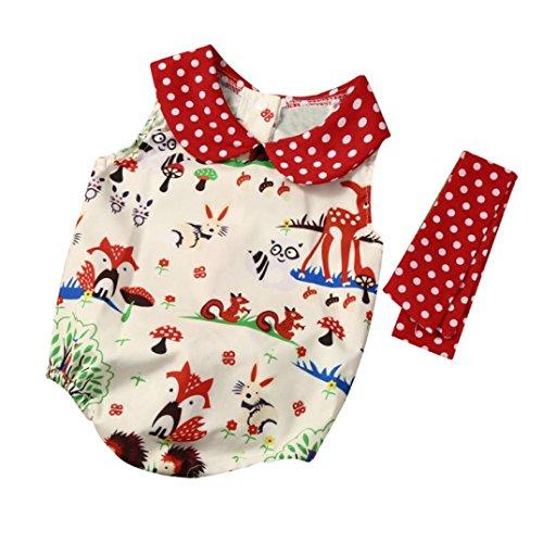 JERFER Prinzessin Kleid Baby Säugling Mädchen Wälder Punkt Kurze Hose Hose Stirnband Kleider Fröhliche ()