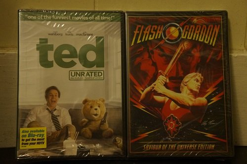 TED and FLASH GORDON 2-pack DVD Set (BOTH Great Movies Together 1 Set)