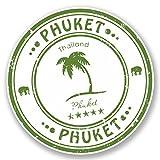 4589Autocollant en vinyle, 2x Phuket, Thaïlande, autocollants de bagages, motif voyage, pavillon, carte, cadeau