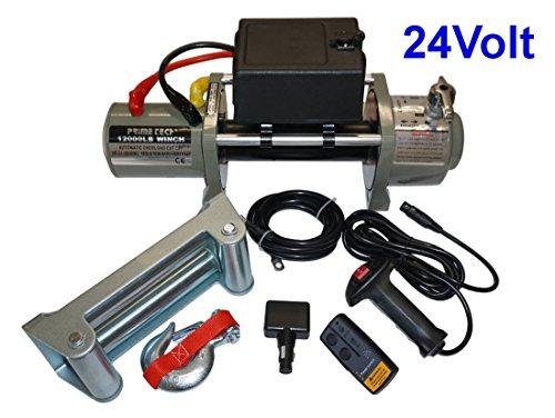 Prime Tech Elektrische Marken-Seilwinde 24 Volt 12000 lb / 5440 kg/Modell WF12 mit Seilgeschw. in Highspeed / 24V ohne Seil