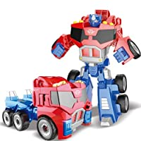 Robot Model Deformation Robot Car Model Toy Puzzle Educational Toy Gifts for Boys Red