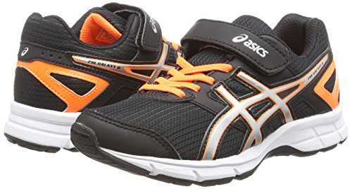 Asics Pre Galaxy 8 PS Scarpe da Corsa, Unisex Bambino Nero (Onyx/Silver/Flash Orange 9993)