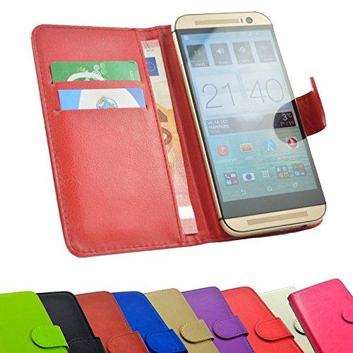 2 in 1 set Tasche für HiSense HS-U602 Slide Kleber Hülle Case Cover Schutz Bumper Etui Handyhülle in Rot