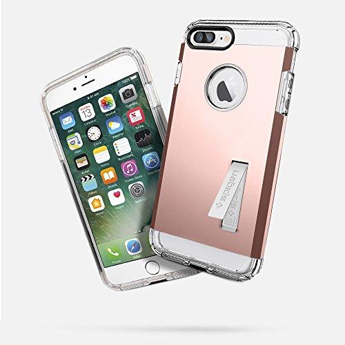 iPhone 7 Plus Hülle, Spigen [Tough Armor] Schwerschutz Doppelte Schutzschicht & Extrem Hoher Fallschutz Schutzhülle für iPhone 7 Plus Case, iPhone 7 Plus Cover - Black (043CS20531) TA Satin Silber
