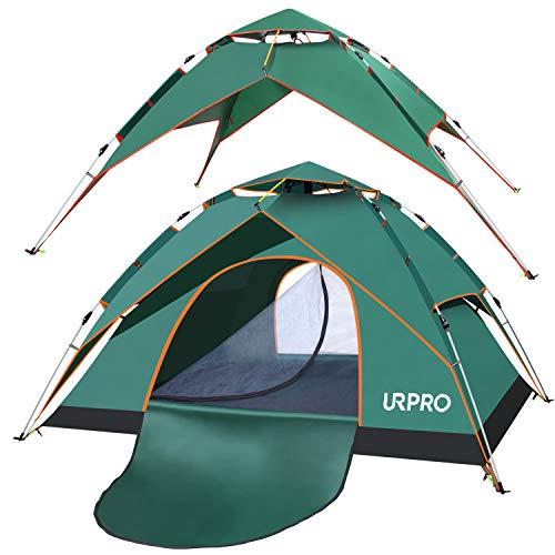 3-4 persona automatico pop up tenda doppio strato impermeabile, antivento, con borsa per il trasporto, perfetta per la spiaggia, esterni, viaggi, escursioni, campeggio, caccia, pesca. 240x210x130 cm