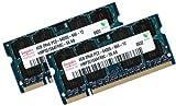 8GB Dual Channel Kit HYNIX original 2 x 4 GB 200 pin DDR2-800 (PC2-6400) SO-DIMM 256Mx8x16 double side (2x HMP351S6AFR8C-S6) für DDR2 Notebooks mit 8GB Unterstützung