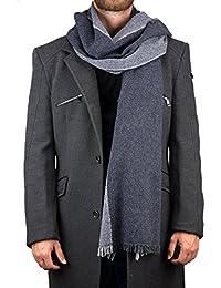 Lancioni 1973, calda sciarpa in misto lana bicolore
