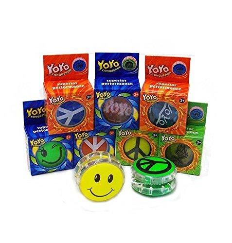 6 x Yo Yo flotando (colores surtidos y diseños) En la caja al por menor, el relleno ideal del llenado del partido / el llenado o el premio del pinata