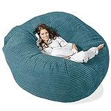 Lounge Pug®, 'Mega-Mammoth' Sofa Sitzsack XXL, Schlafsofa, Cord Türkis