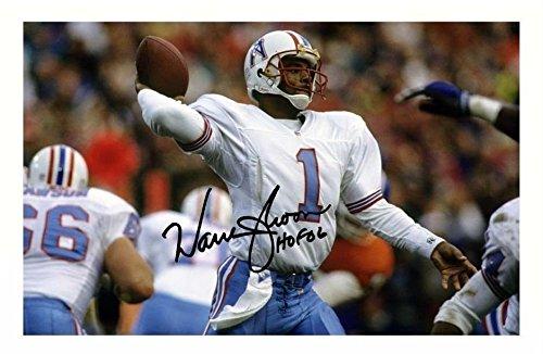 Warren Moon - Houston Oilers Signiert Autogramme 21cm x 29.7cm Plakat Foto -