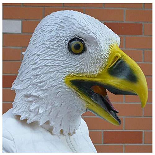 Maske YN Schwarz-Weiß-Tier Requisiten American Eagle Costume (Color : White)
