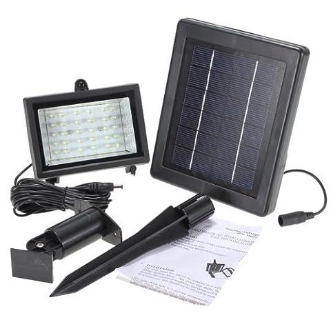 Solar Power Ultra Bright 30 LED Outdoor Garden Spot Flood Light Lawn Green Lamp