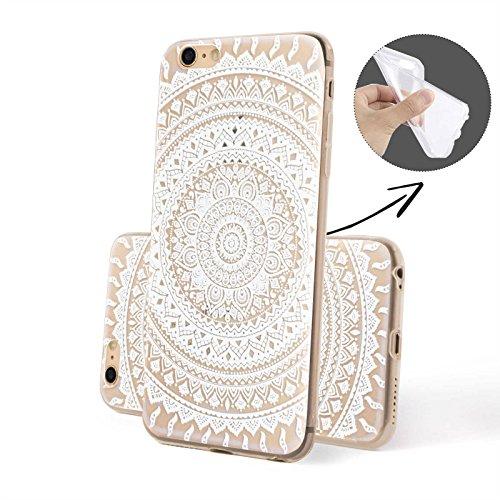 Finoo ® | Iphone 6 / 6S Handy-Tasche Schutzhülle | ultra leichte transparente Handyhülle aus weichem und flexiblen Silikon | kratzfester stoßdämpfende TPU Schale mit Motiv | stylisches Cover Etui | Ca Henna