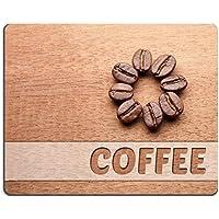 Liili Mouse Pad in gomma naturale mousepad immagine ID 33082353chicchi di caffè Crop su legno sfondo con texture