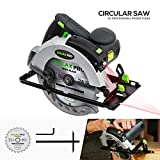 Scie Circulaire, GALAX PRO 1400W 5500RPM, Guide Laser, Max Coupe 62 mm (90 °), 46mm...