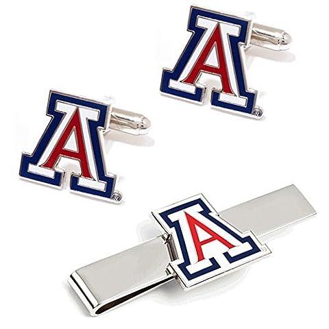 NCAA Arizona Wildcats Cufflinks and Tie Bar Gift Set by Cufflinks