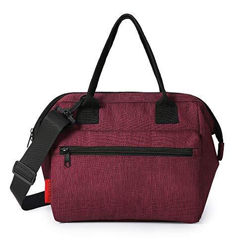 Esonmus Lunch Tasche Thermos Kühltasche Faltbar Für Frauen Männer Portable Auslaufsichere Babyflasche Kühltasche Für Arbeit Schule Rot