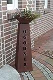 Jabo Design Rost Säule Konisch + Rost Schale RS109 + S11 Ihr Eigener Name Garten Rostsäulen Blumensäule Deko Rostsäule