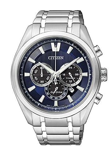 Citizen Herren-Armbanduhr XL Super Titanium Chronograph Quarz Titan CA4010-58L