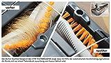 AEG Ergorapido AG 935 Beutelloser 2-in-1 Handstaubsauger (Elektrobürste, 12 V Power-Akku, 4 helle LED-Frontlichter) schwarz metallic -