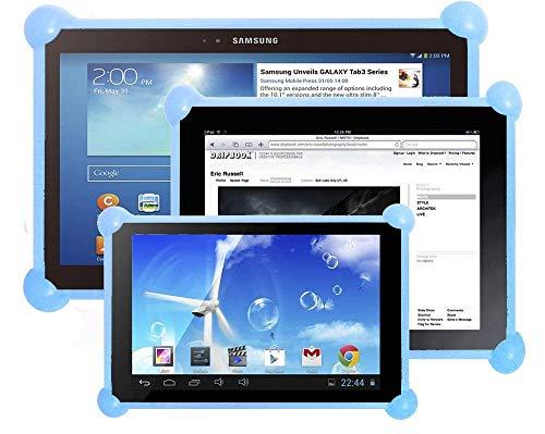 """cover silicone tablet 7 pollici Cover tablet 7 pollici silicone universale Unitab® prodotto brevettato compatibile con tutti i modelli e le marche di tablet da 7 """" sul mercato custodia tablet 7 pollici universale blu"""