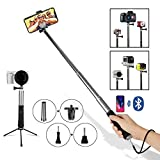 Perche à Selfie Bluetooth Monopode Extensible de Poche Self-Portrait U-Shape Support Portable Extensible de Téléphone Pour Voyage Moments Avec la Famille Divertissement Amis Photo-Compatible avec Gopro Hero 6 5 4 3 Session Camera iPhone plus X 8 7 6s 6 5s 5c 5 4 Samsung C On Galaxy s8+ s8 s7 s6 s5 edge Note 8 5 4 edge LG G5 4 3 2 HTC Sony Moto and 3.5-6 inch Smartphone Toute Tailles et Marques Android 2.3 and ios 4 above Silver