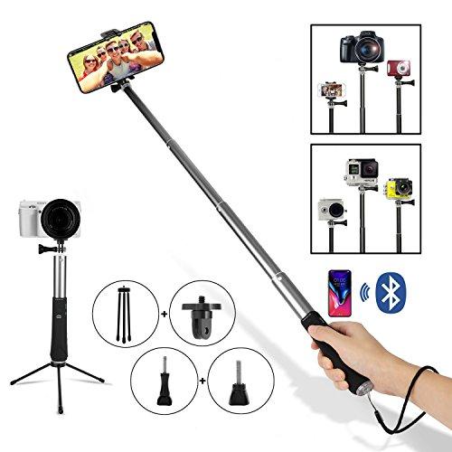"""Selfie-Stativ mit Fernbedienung, 5-in-1-Paket, einstellbares Selfie-Einbeinstativ für Gopro iPhone XS/xr/7 Android-Fenster alle Telefone 3,5\""""-6,2\"""", ausziehbar 270° bis 94 cm"""