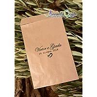 Sacchetti confettata personalizzati, carta Kraft,10x16 cm, avana, bustine carta, sacchetti carta confetti, confettata