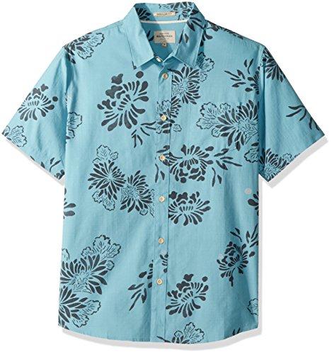 Quiksilver Herren Hoena Woven Shirt, X-Large, Stillwater (Herren Quiksilver Woven Shirt)