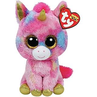 TY Beanie Boo Plush - Fantasia the Unicorn 15cm, Pink