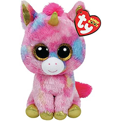 peluches TY - Fantasía, peluche unicornio, 15 cm, color multicolor (36158TY)