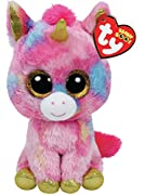 FANTASIA the colorful Unicorn by TY is soft & cute and makes the perfect Beanie Boos addition ! Gold sparkle eyes and accents. Birthday (Date of Birth): May 8 The Swing Phrase says: Come close... I have a secret for you I wish your dreams...