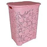 TW24 Wäschekorb Blumen 50L mit Farbauswahl - Wäschetruhe - Wäschekiste - Wäschesammler - Wäschebox