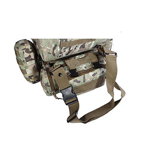 Draußen Taktische Rucksack Schulter Schulter Gehen Wandern Tasche Große Kapelle Rear Duffle Camouflage Pack mud color
